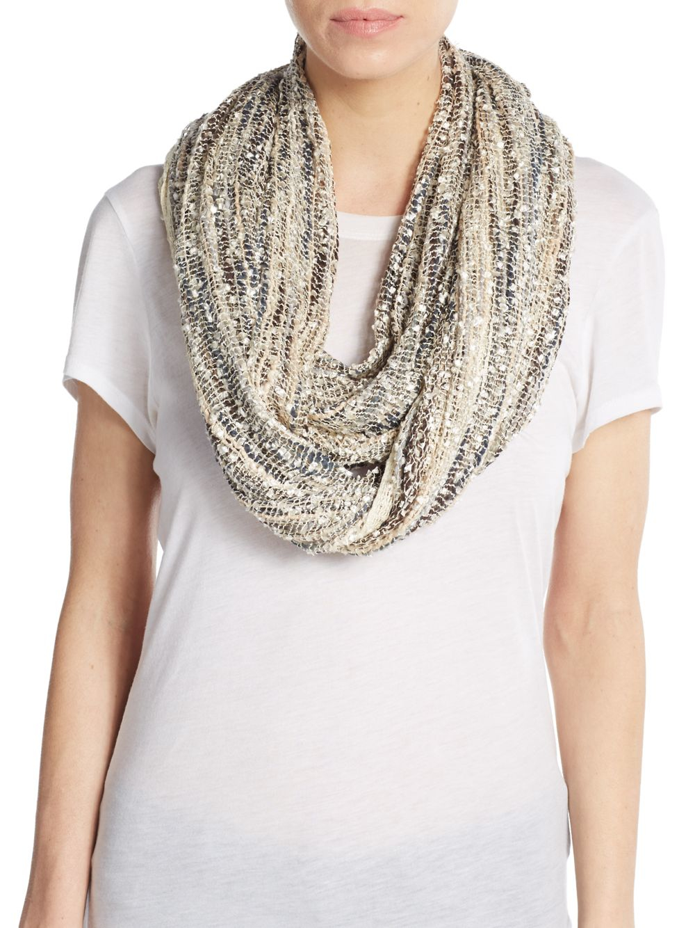 saks fifth avenue all slub infinity scarf in lyst