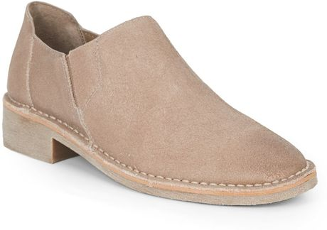 kenneth cole reaction downtown nubuck slip on shoes in