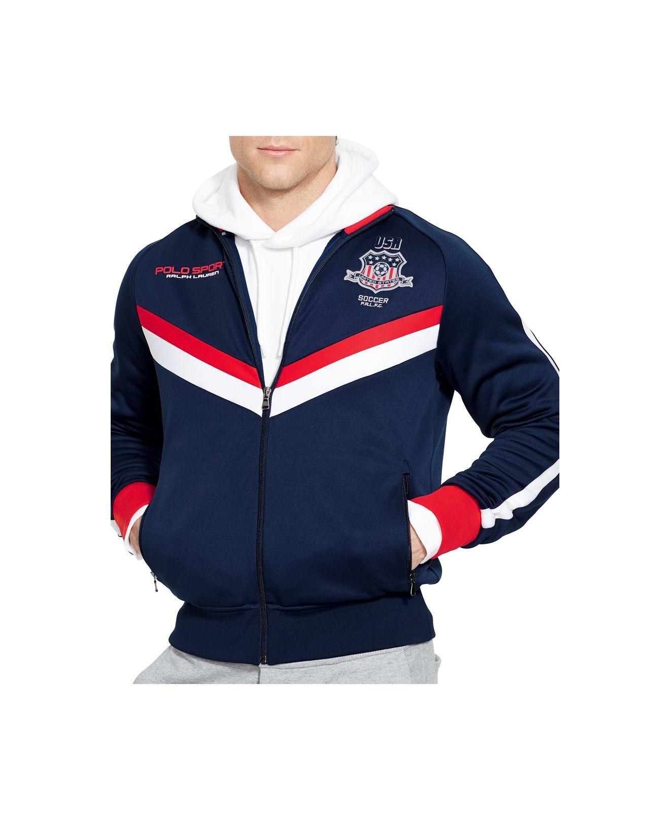 Polo ralph lauren Polo Sport Usa Tech Fleece Track Jacket in Blue ...