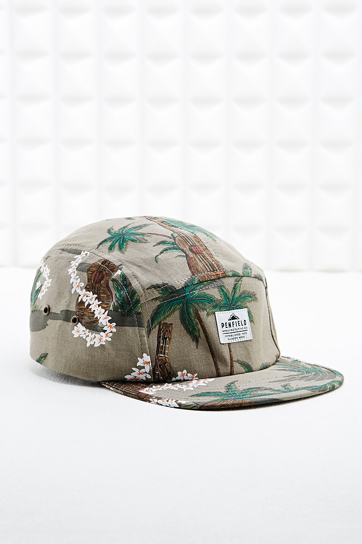 Penfield 5 Panel Cap in Hawaii Camo Print in Gray for Men - Lyst 417acd6f448a