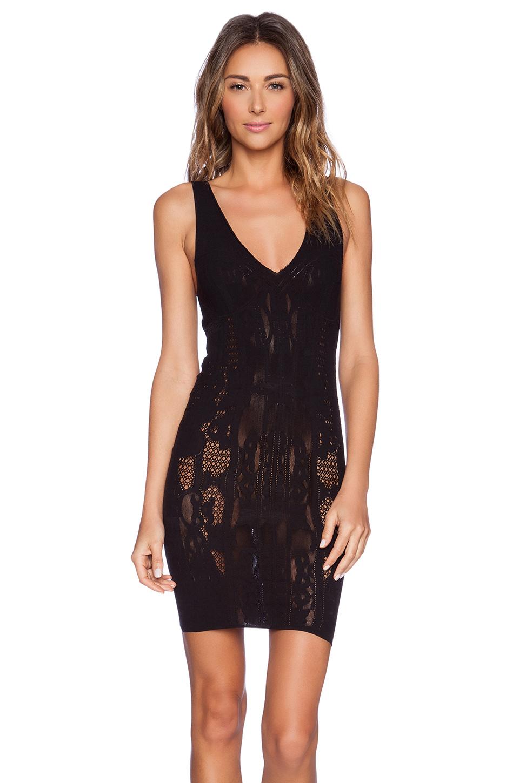 Free people Bella Coach Bodycon Slip Dress in Black | Lyst