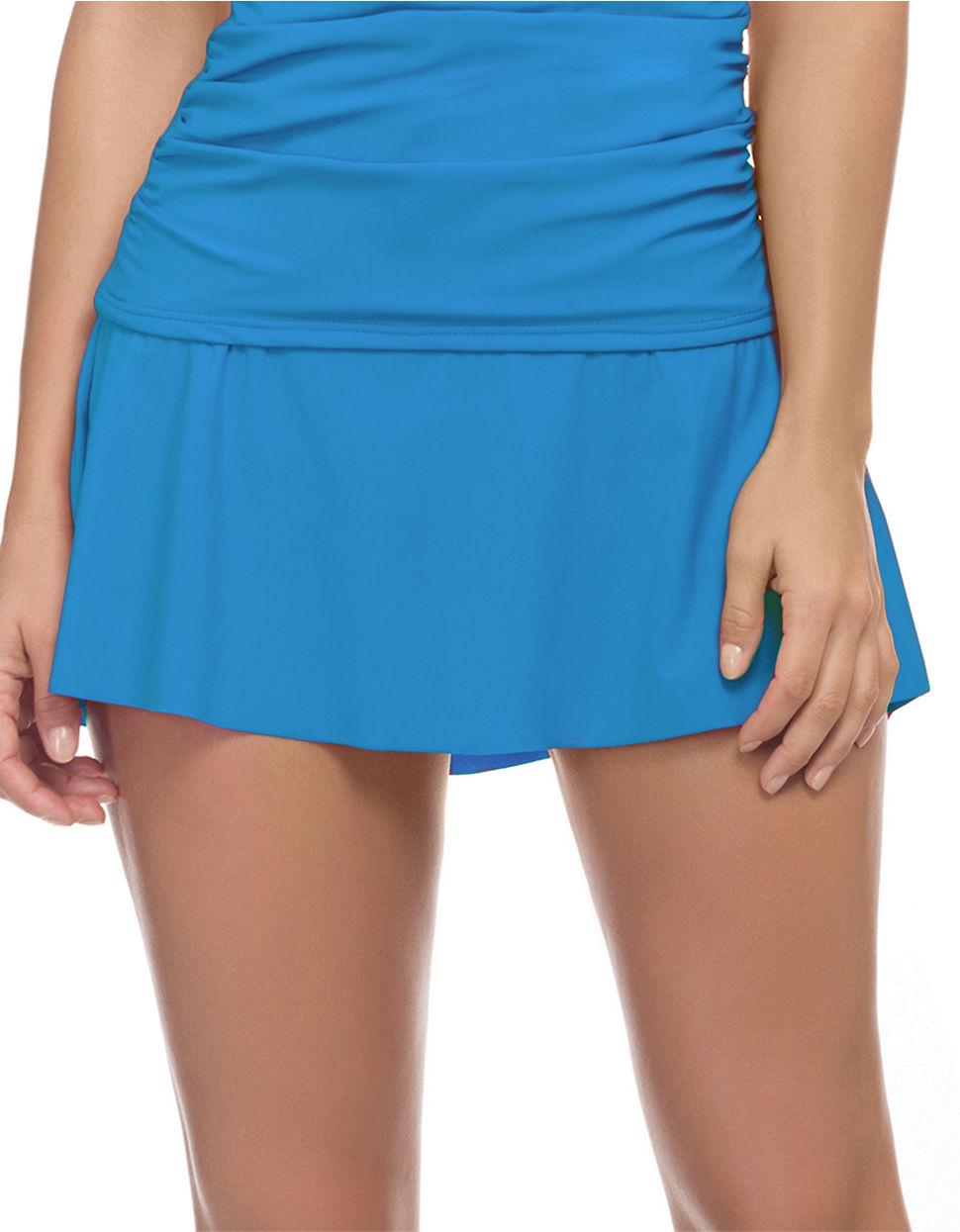 gottex waterfall swim skirt in blue lyst