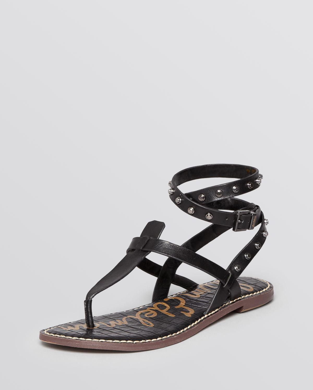 Sam Edelman Flat Thong Gladiator Sandals Gabriela In Black