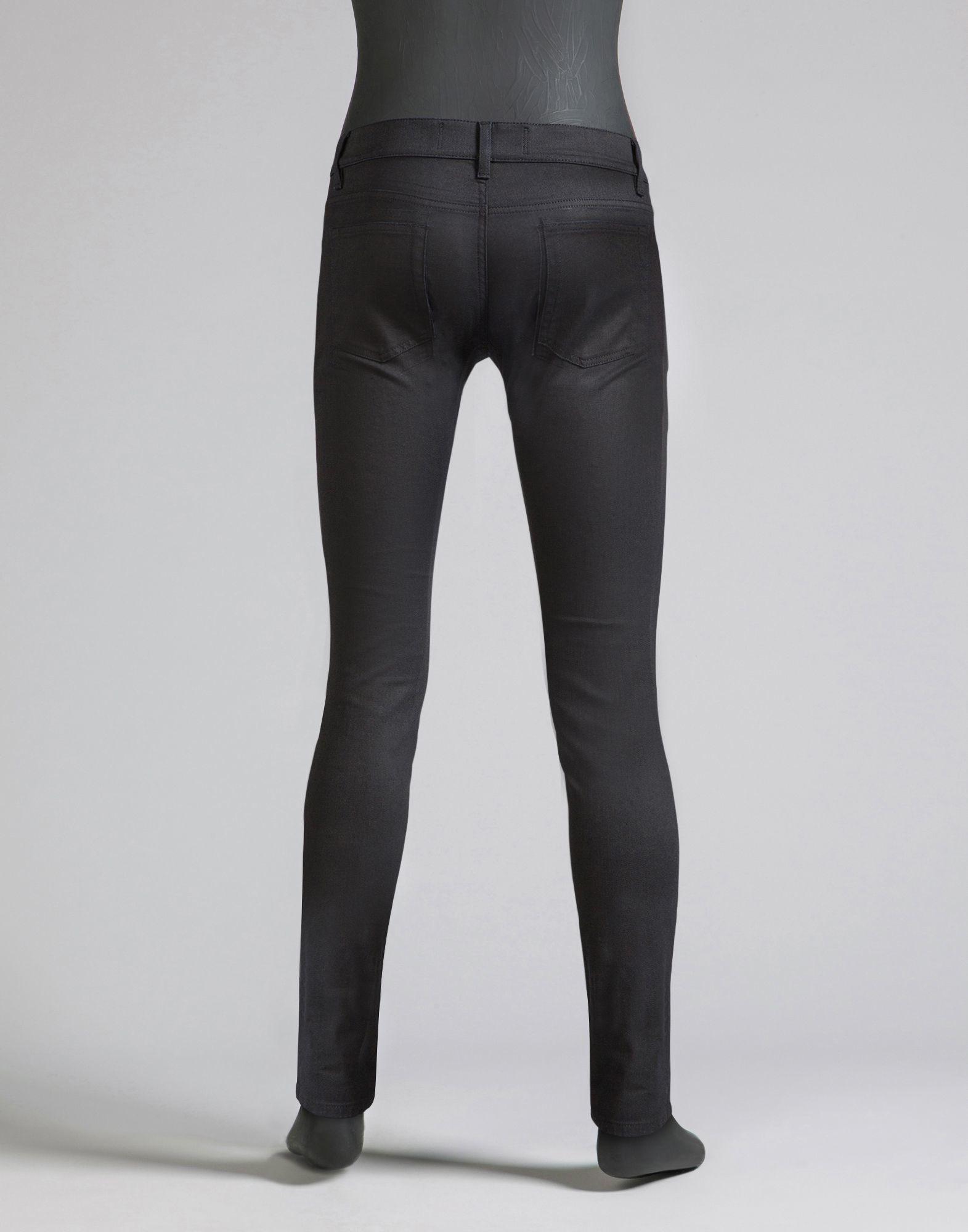 Dolce & Gabbana Super Slim Fit Stretch Denim Jeans in Black for Men