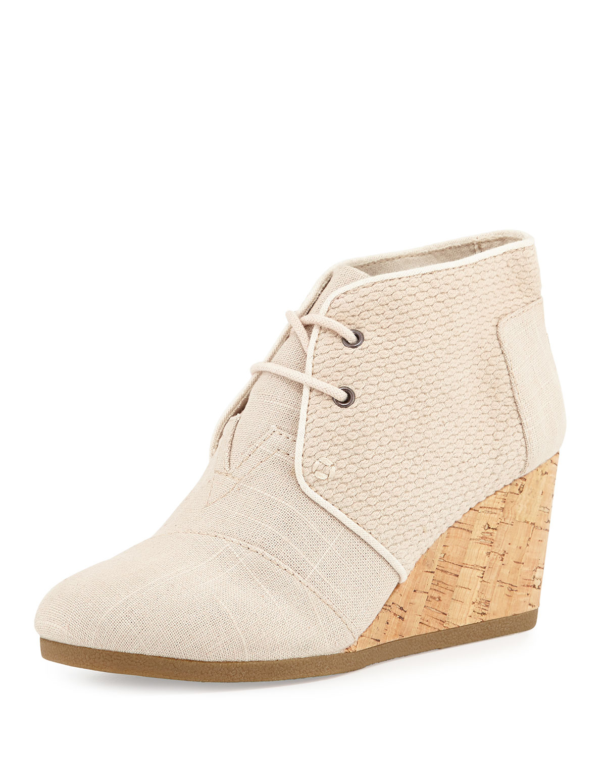 toms burlap wedge desert boot in lyst