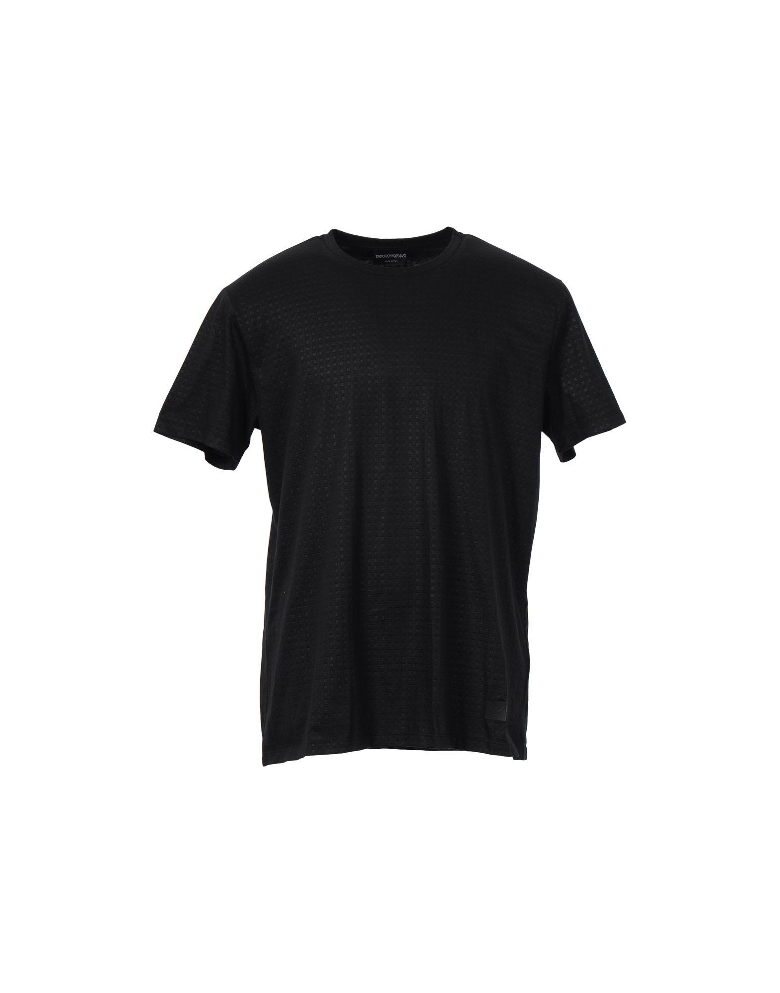 Emporio armani t shirt in black for men save 67 lyst for Black armani t shirt