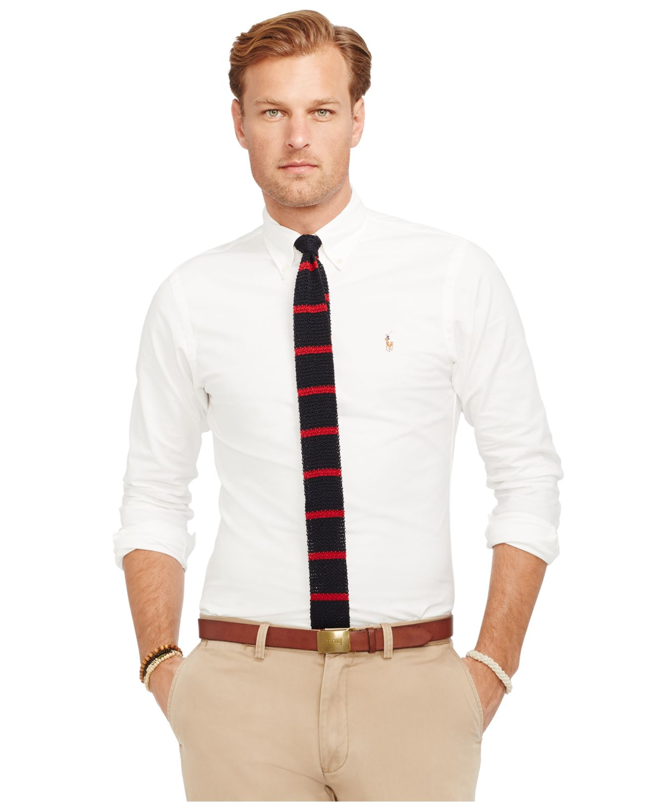 Lyst polo ralph lauren big and tall classic fit oxford for Big and tall oxford shirts