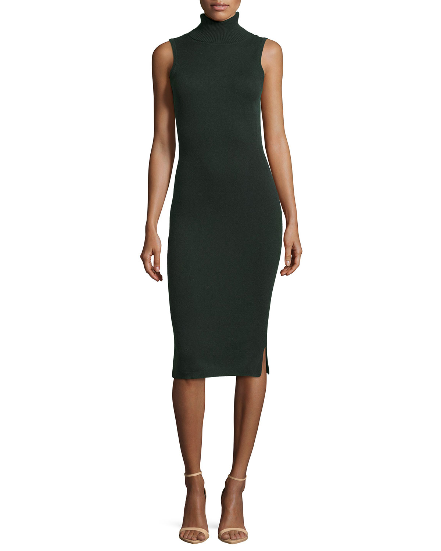 turtleneck dress sleeveless