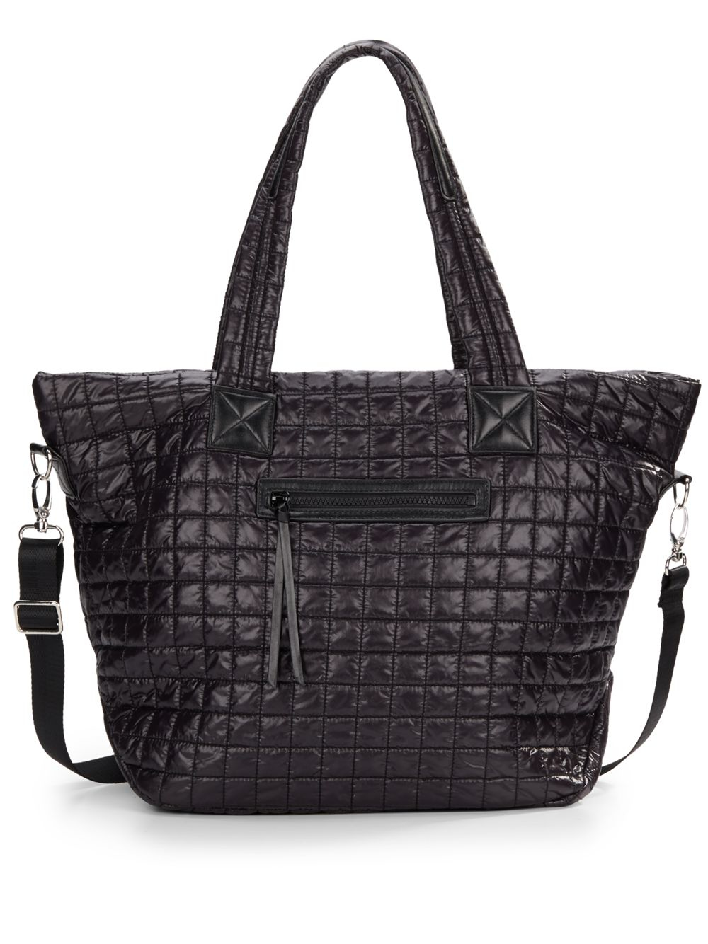 ea0503c90e51 Saks fifth avenue Quilted Nylon Tote in Black | Lyst Prada Bags: ...
