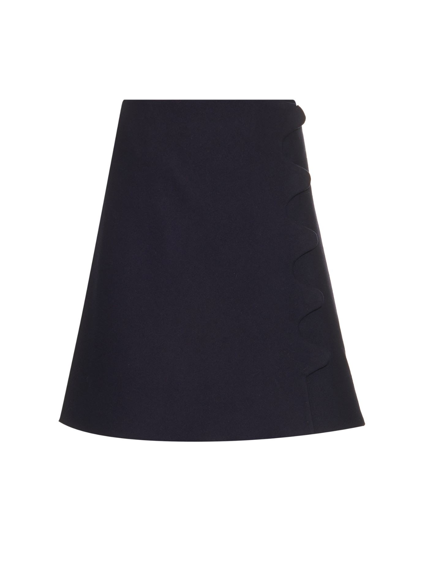 Trademark Scalloped-detail A-line Skirt in Blue | Lyst