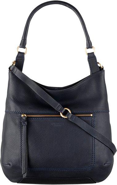 Radley Large Berkley Leather Tote Bag in Blue (navy)