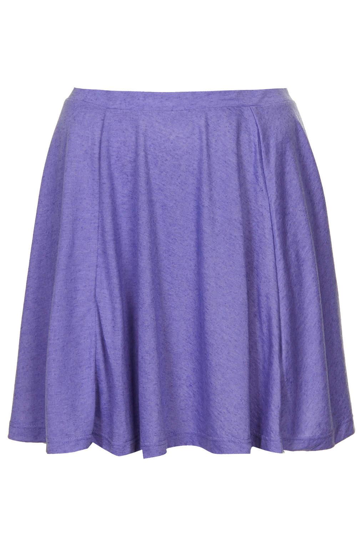 Topshop Lavender Speckle Skater Skirt In Purple Lyst