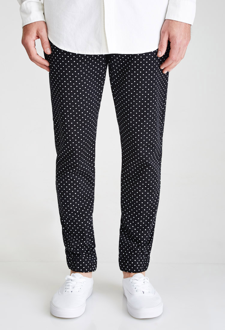 polka dot pants lyst forever 21 polka dot in black for 30737