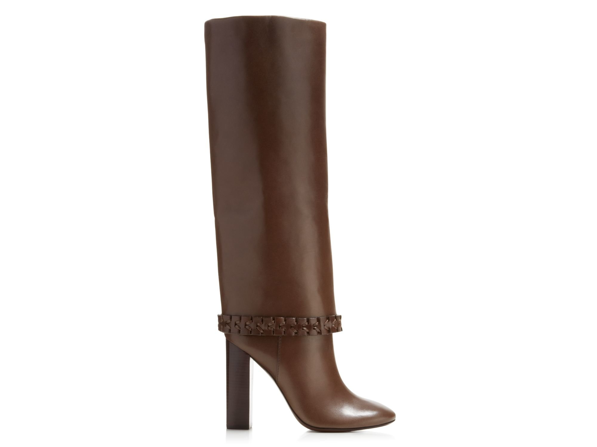 97690021709 Lyst - Tory Burch Sarava High Heel Boots in Brown
