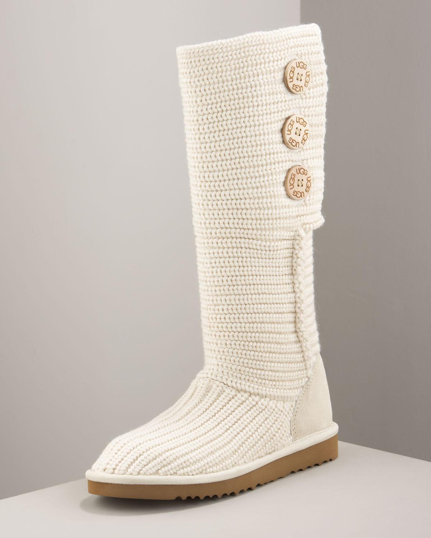 UGG Classic Cardy Crochet Boot Cream in