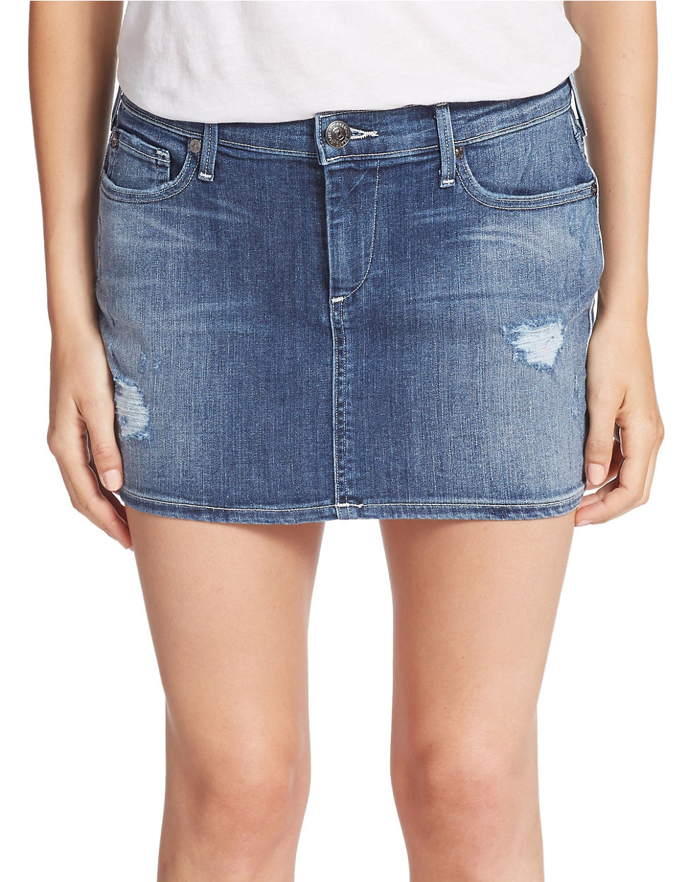 true religion denim skirt in blue lyst