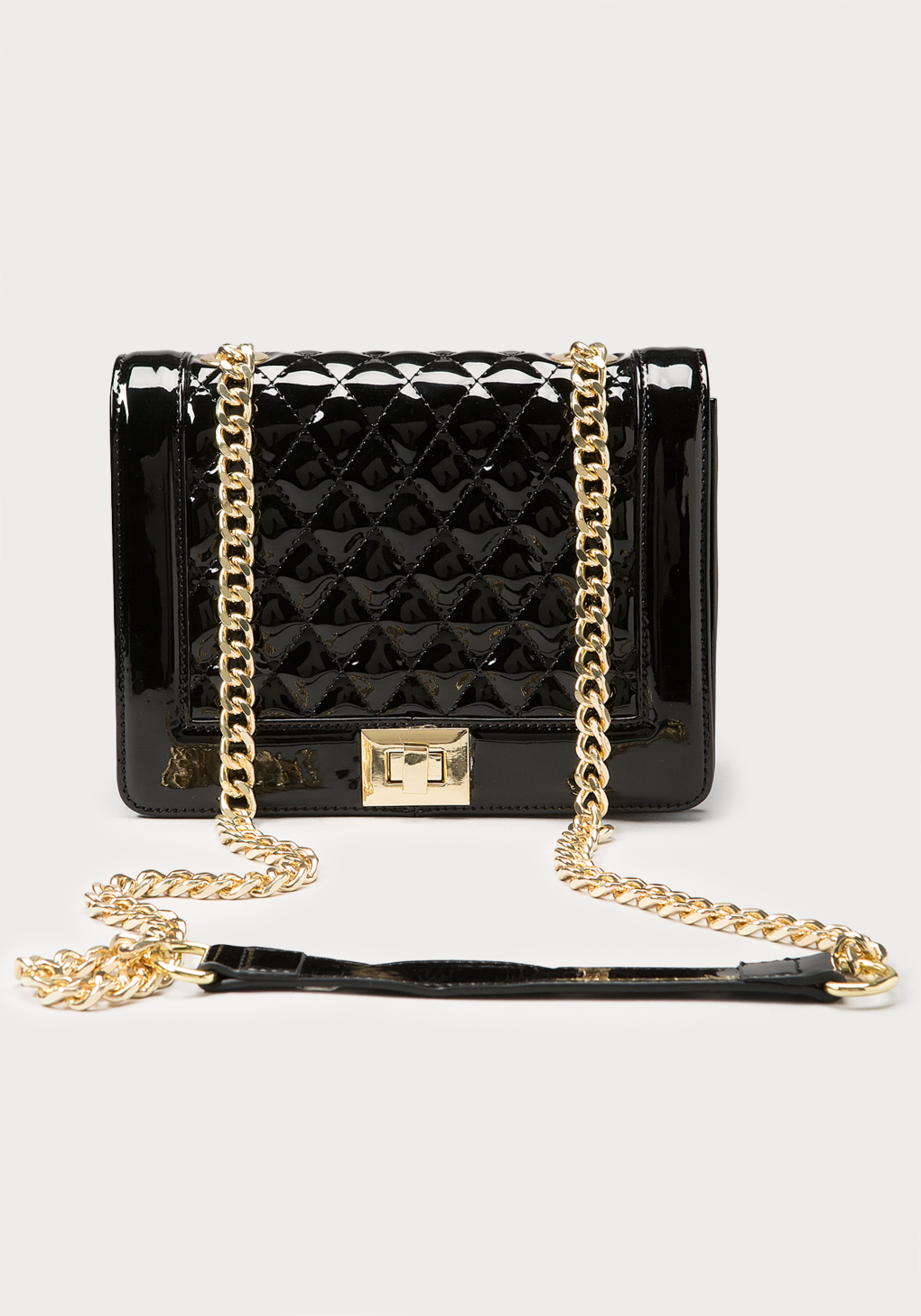 Bebe Ava Quilted Crossbody Bag in Black | Lyst : quilted crossbody bags - Adamdwight.com
