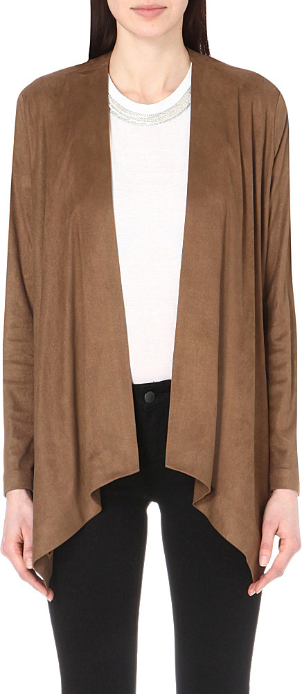 pin drapes draped item suede nwt jacket romeo front lapels couture details open juliet wide