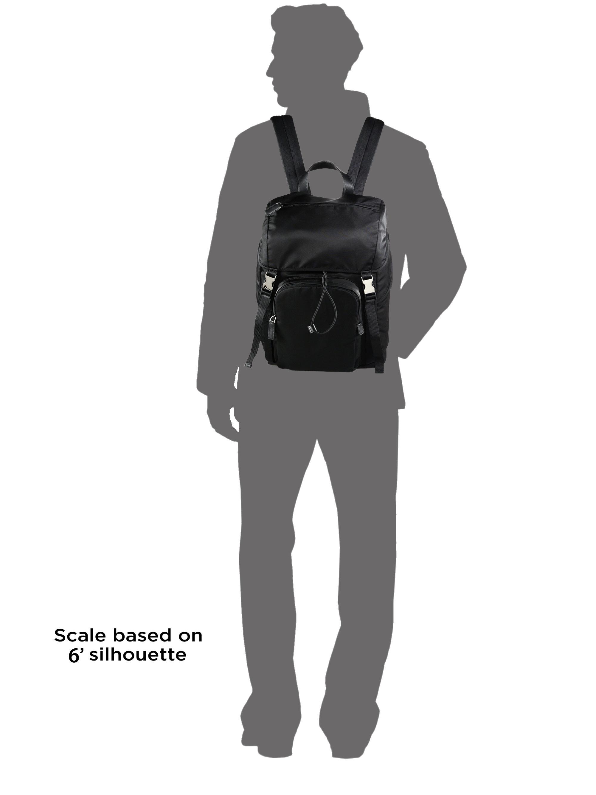Prada Nylon Backpack In Black For Men Lyst