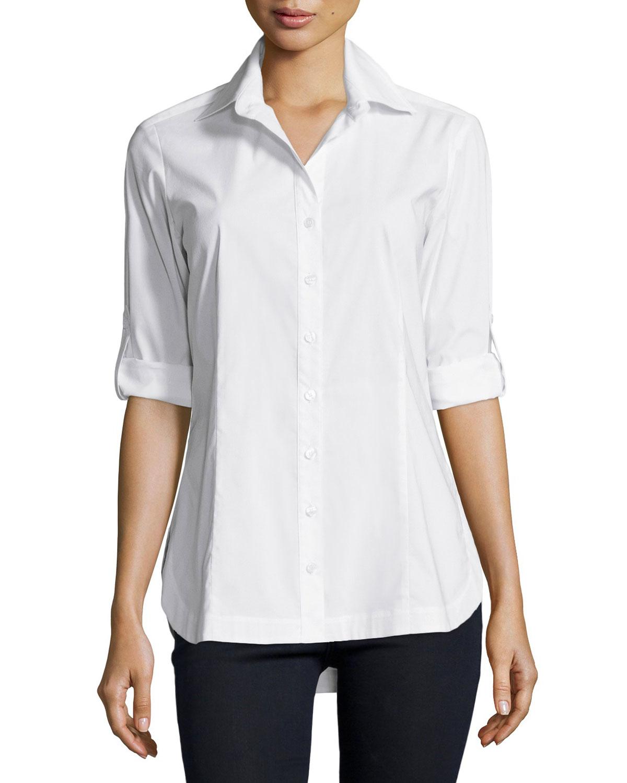 Crisp White Shirt Womens
