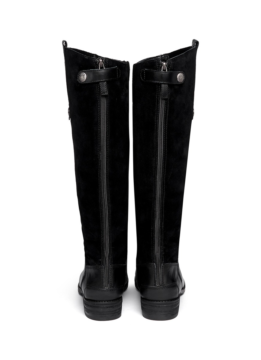 5d169fbd91df72 Lyst - Sam Edelman  pembrooke  Suede Leather Boots in Black