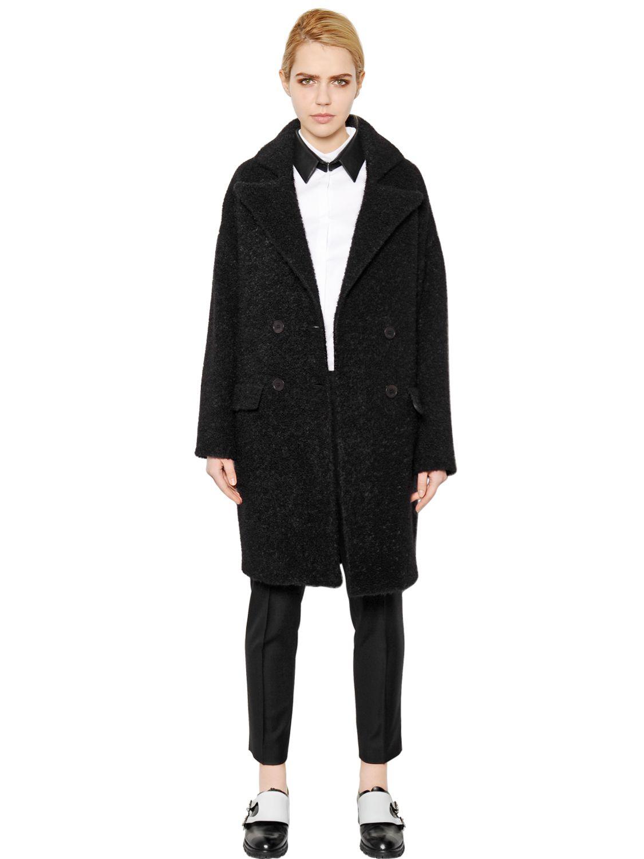 karl lagerfeld wool boucle coat in black for men lyst. Black Bedroom Furniture Sets. Home Design Ideas