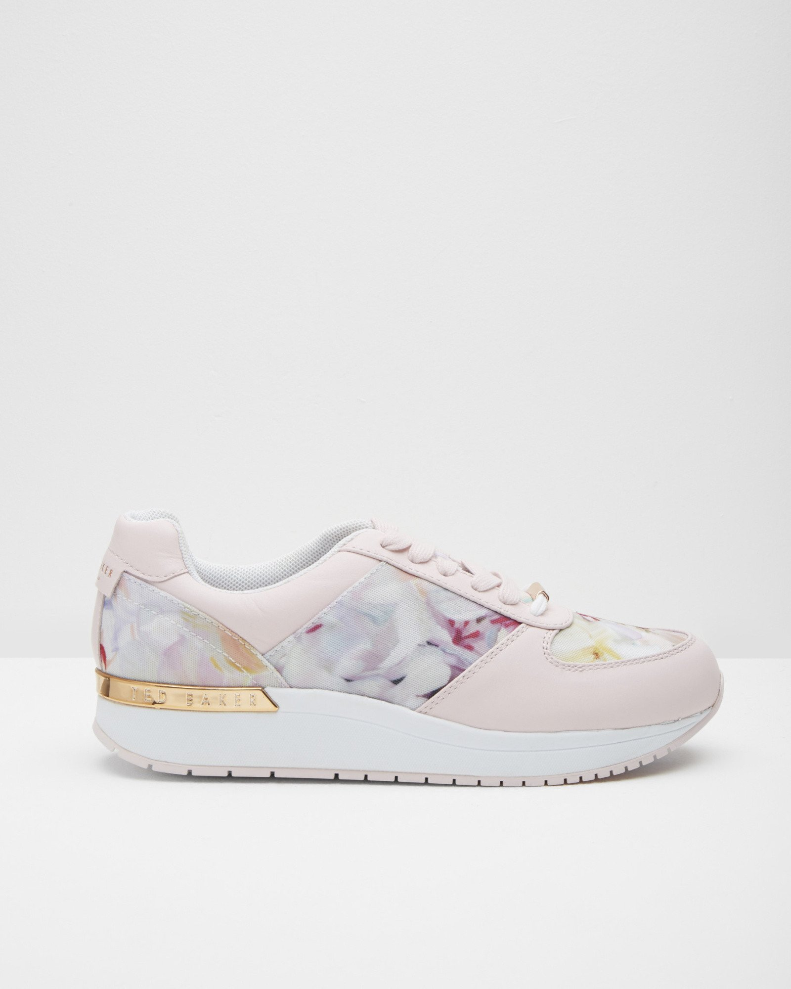 Ted Baker Floral Print Trainers In Pink Lyst