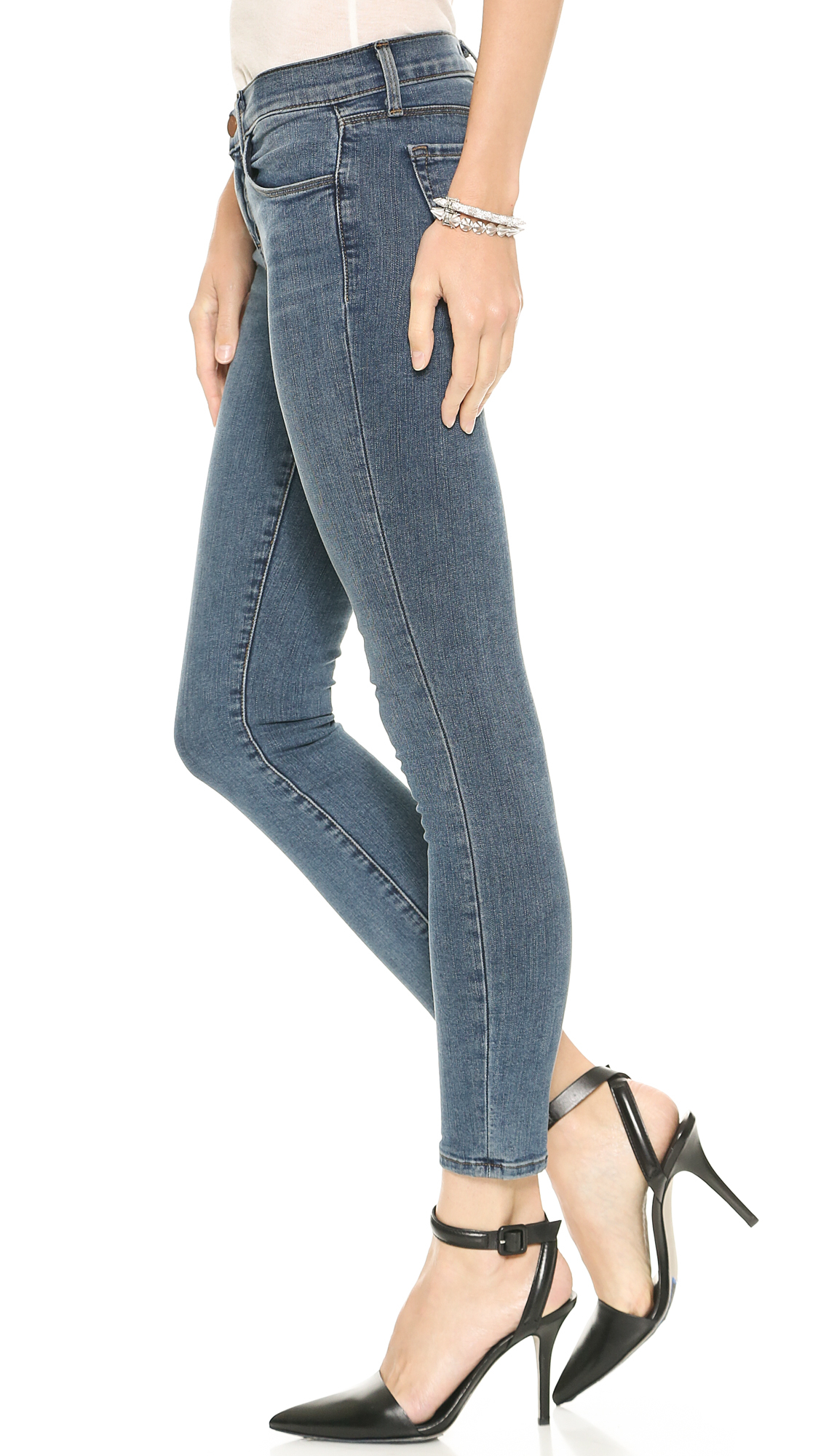 J brand 835 Mid Rise Photo Ready Cropped Skinny Jeans ... - photo #43