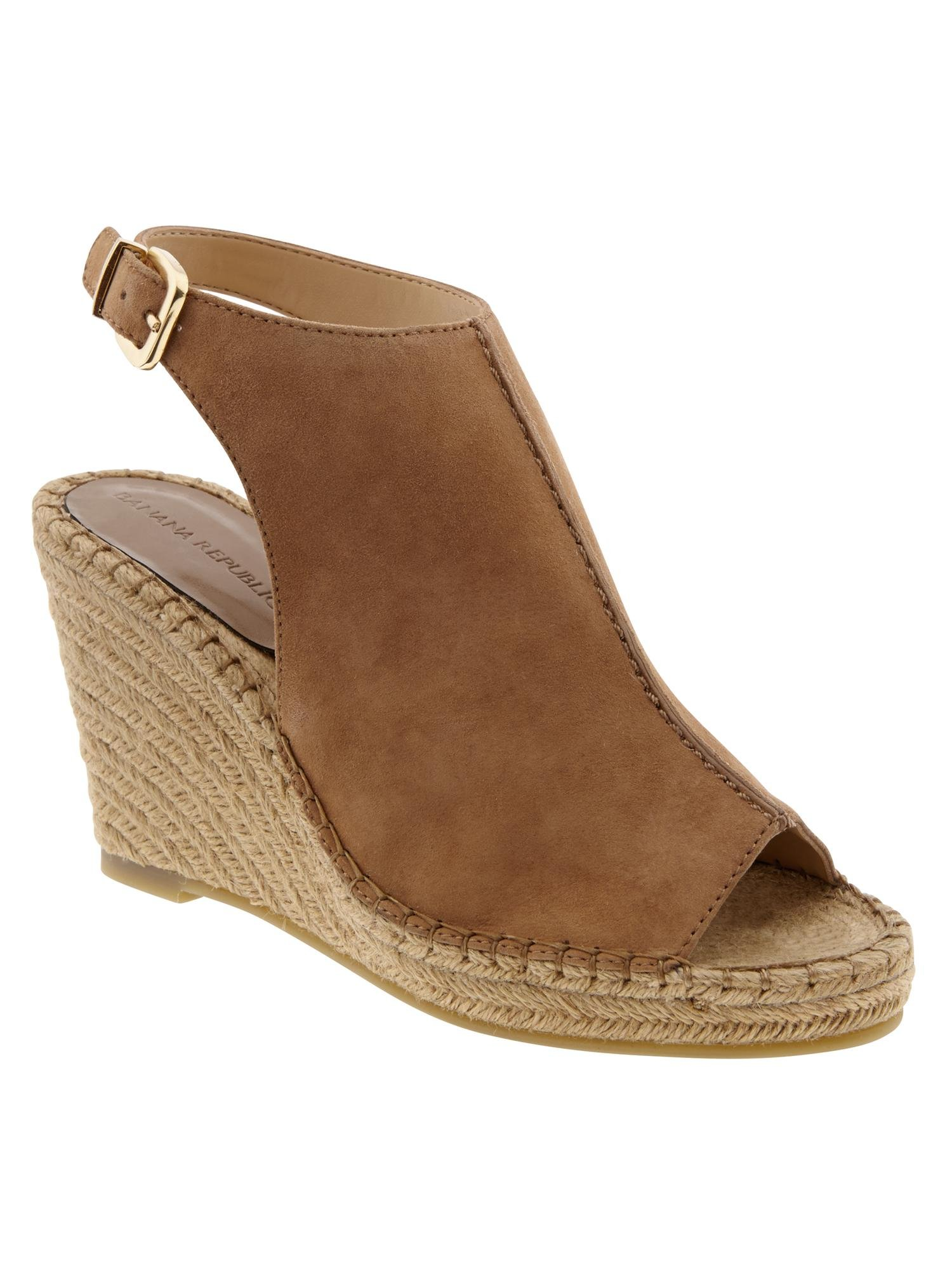 4c2e72c765a Lyst - Banana Republic Noemie Espadrille Wedge in Brown