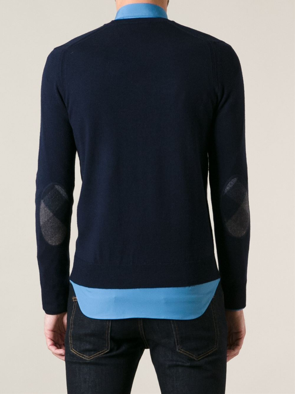 Burberry Brit Fine Sweater in Blue for Men