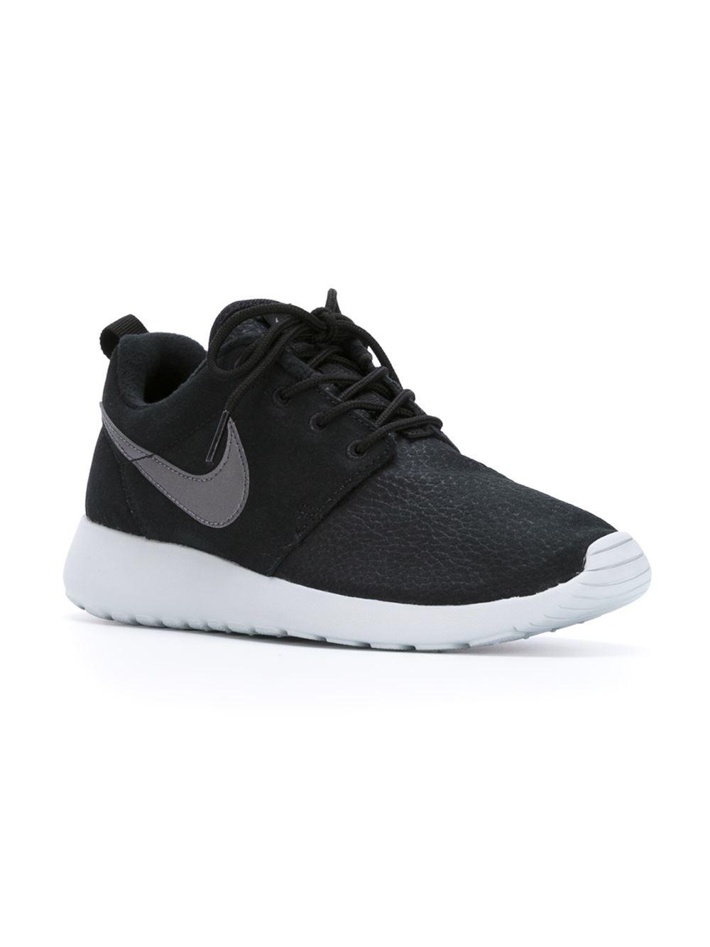 nike roshe one sneakers in black lyst