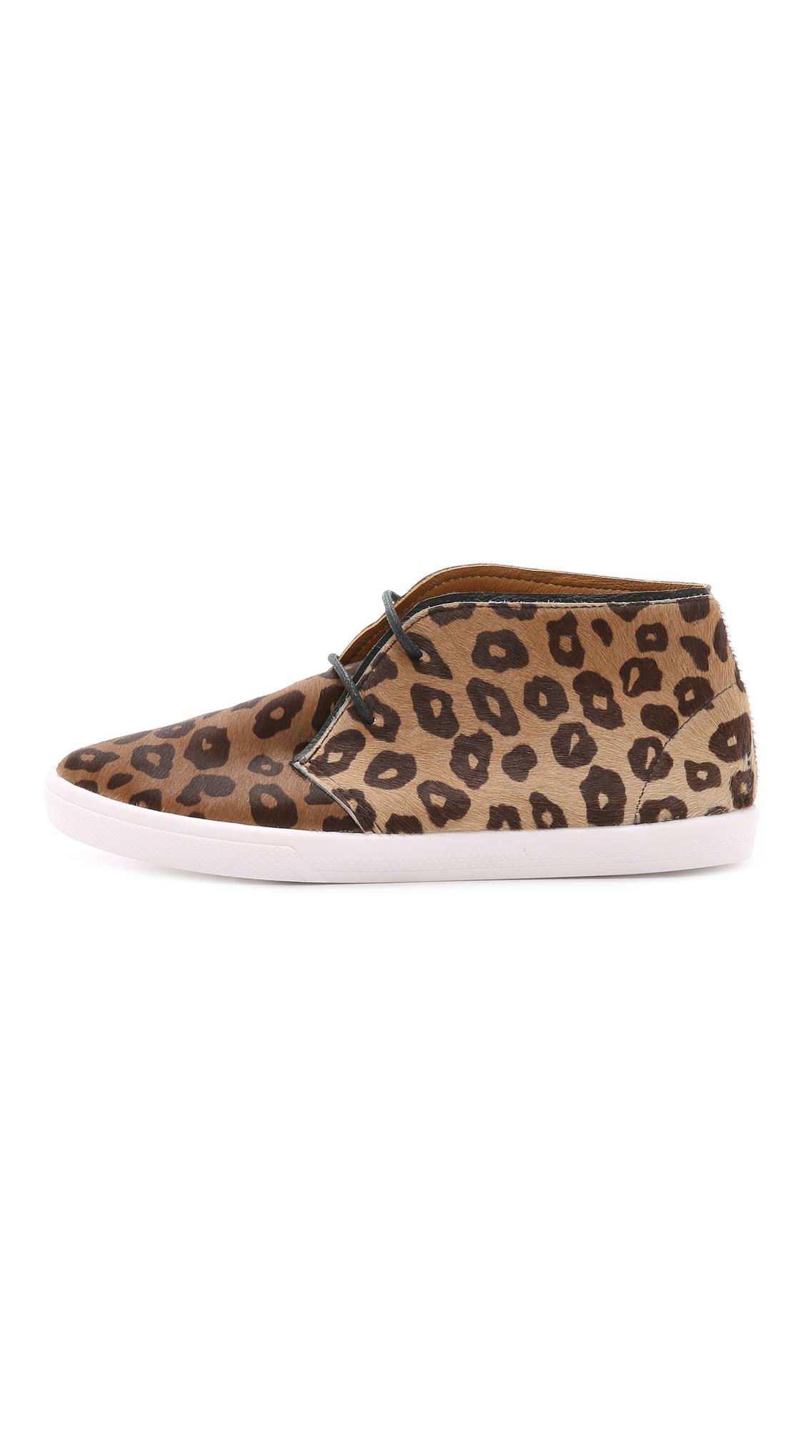 Kaanas Congo Haircalf Booties - Cheetah in Black