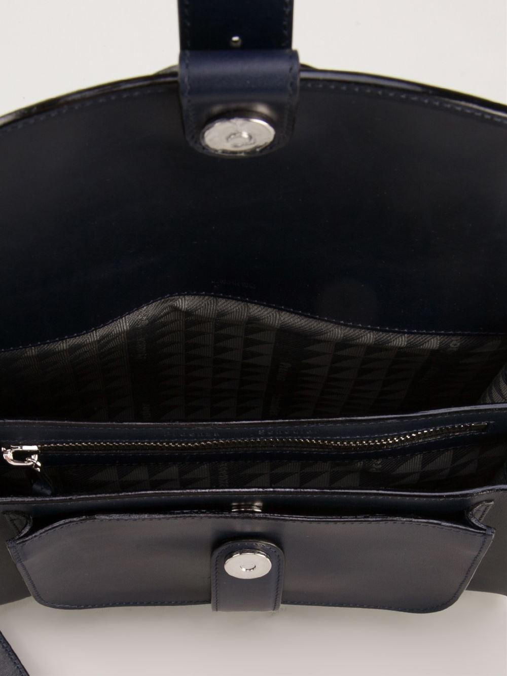 Proenza Schouler Buckle Bag In Blue Lyst