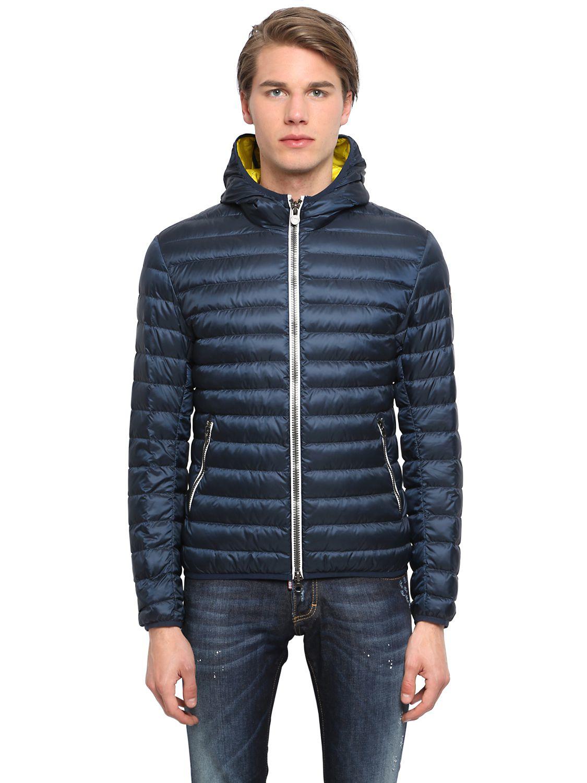 colmar nylon down jacket in blue for men lyst. Black Bedroom Furniture Sets. Home Design Ideas