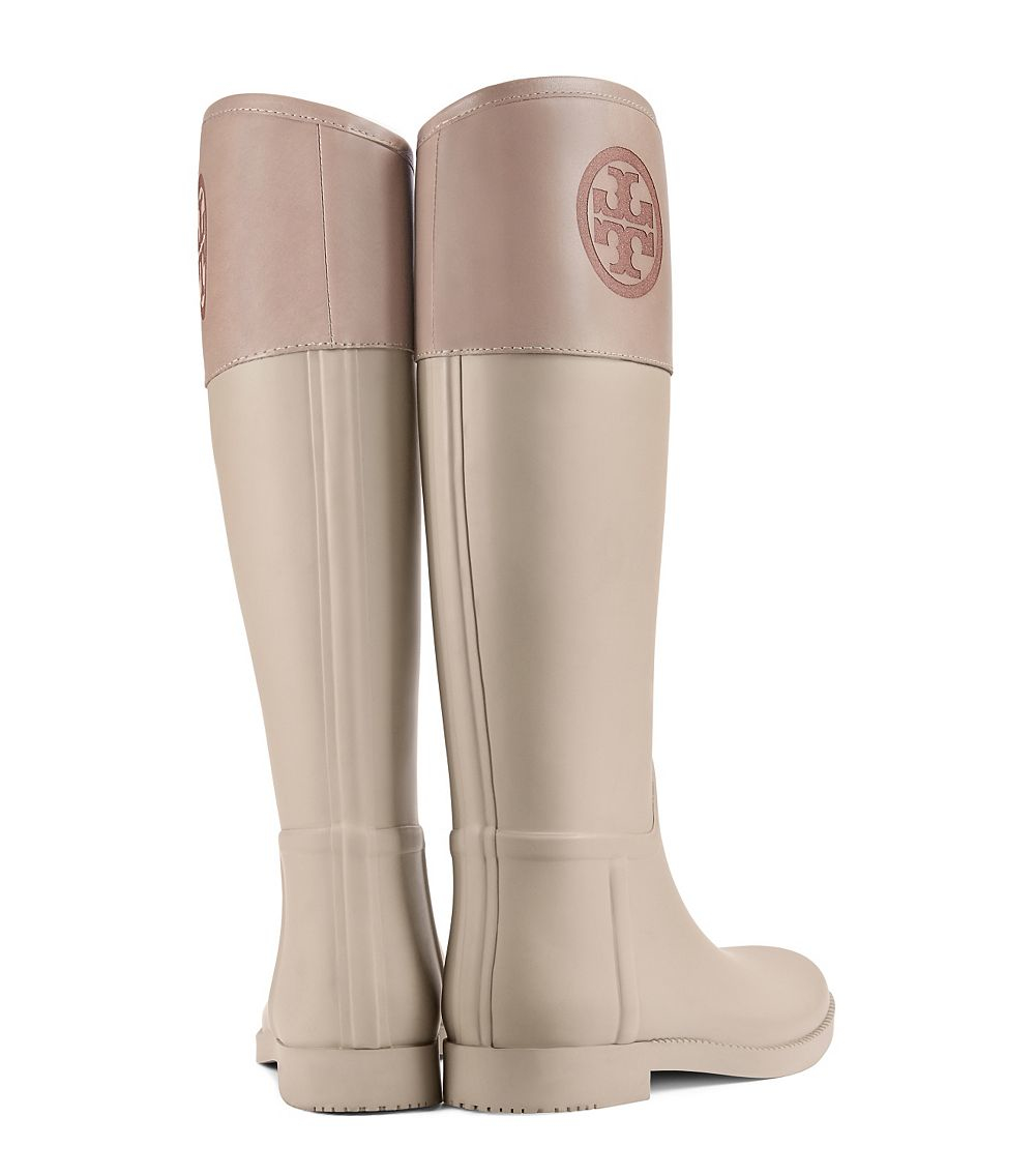 71a2123505f347 sale tory burch shoes tory burch marion quilted rain boots cf163 677d1   official lyst tory burch classic rainboot in natural 69ac9 bbfec