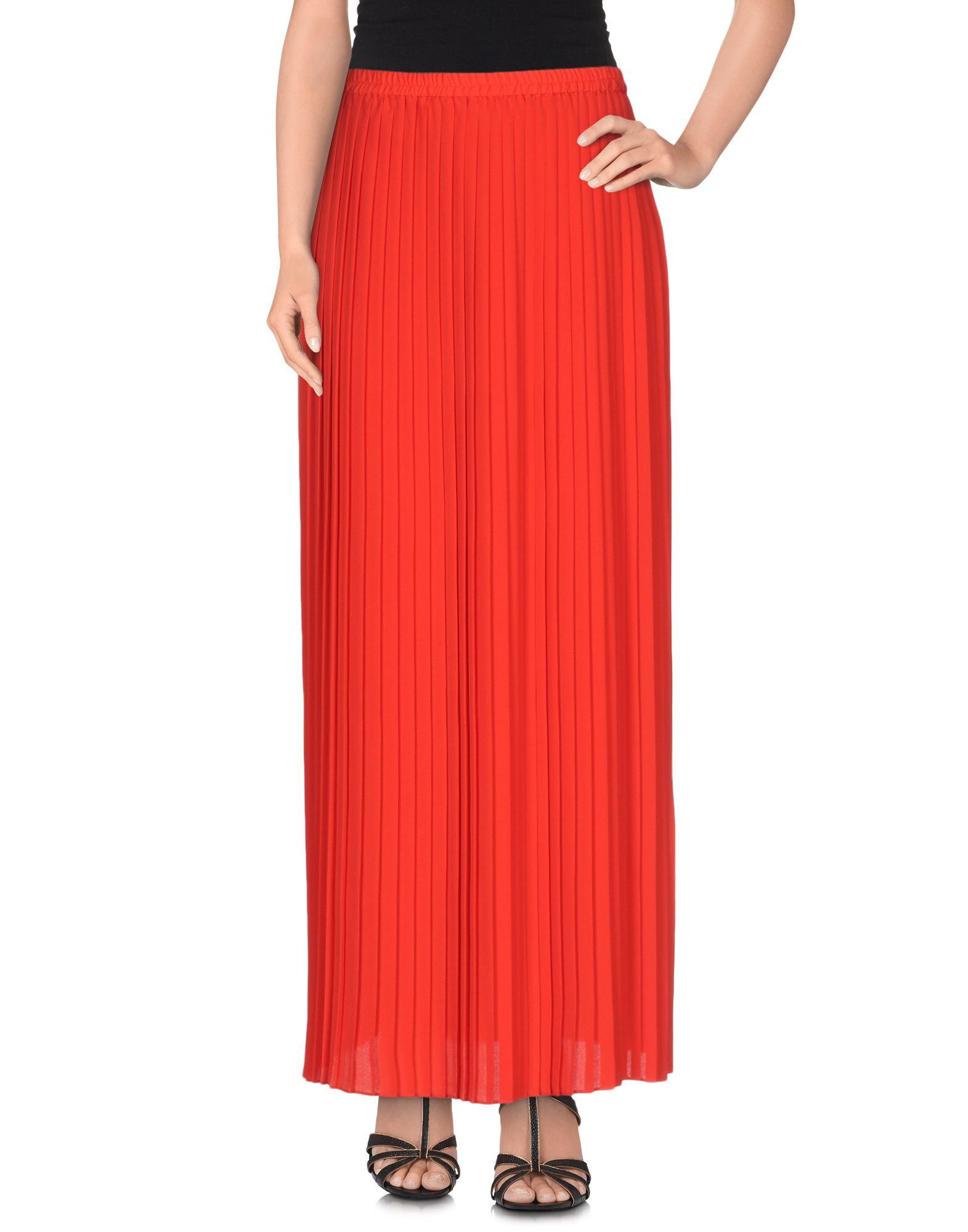 Lyst - Michael Michael Kors Long Skirt in Red