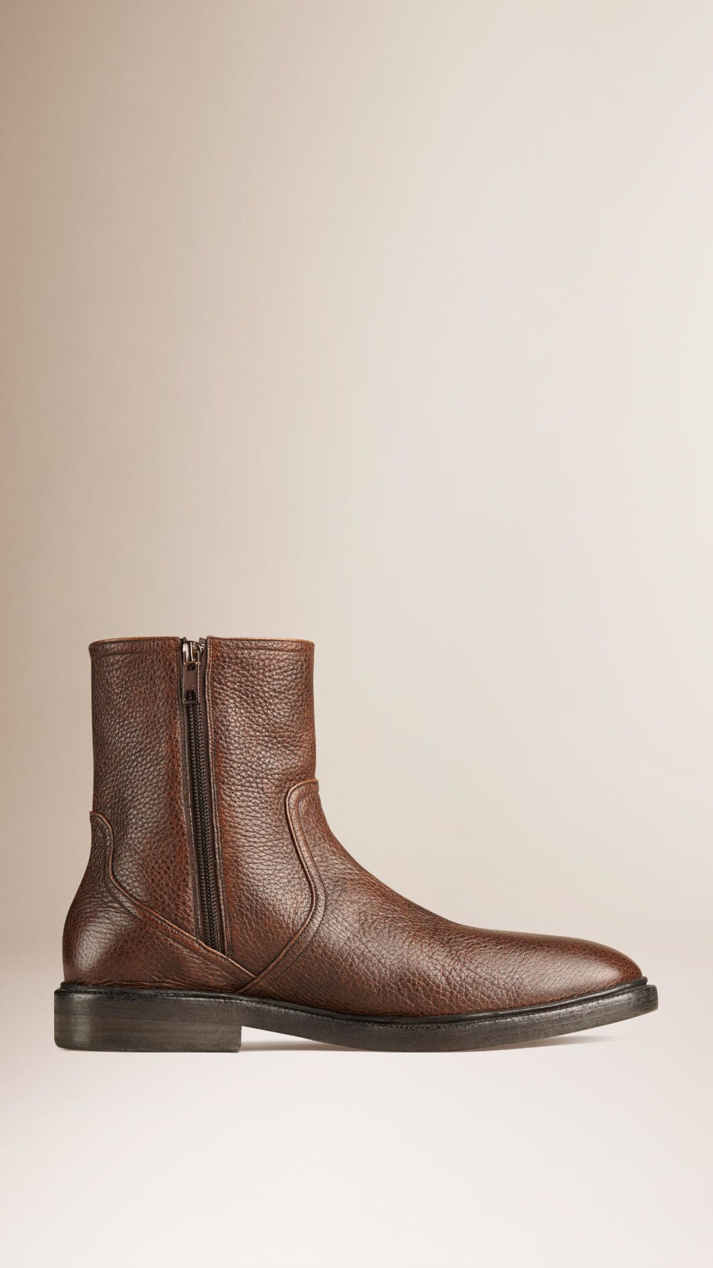 c34367d32 Burberry Shearling-lined Deerskin Boots in Brown for Men - Lyst