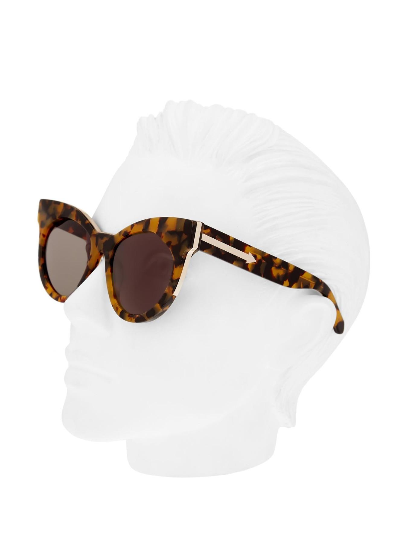b1b88cc91a3 Lyst - Karen Walker Starburst Cat-eye Frame Sunglasses in Brown