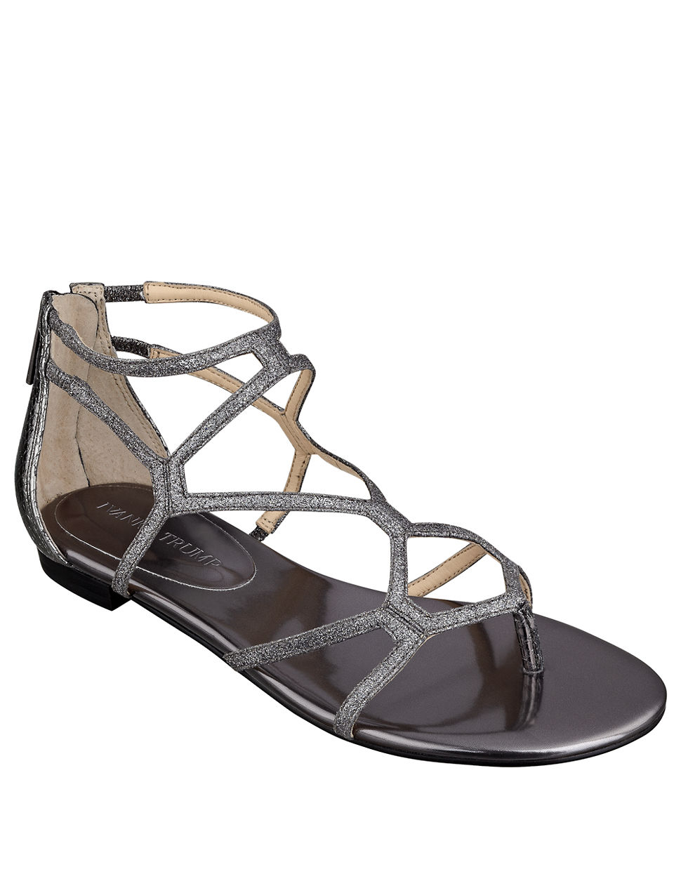 Ivanka trump Beauty Caged Sandals in Metallic | Lyst