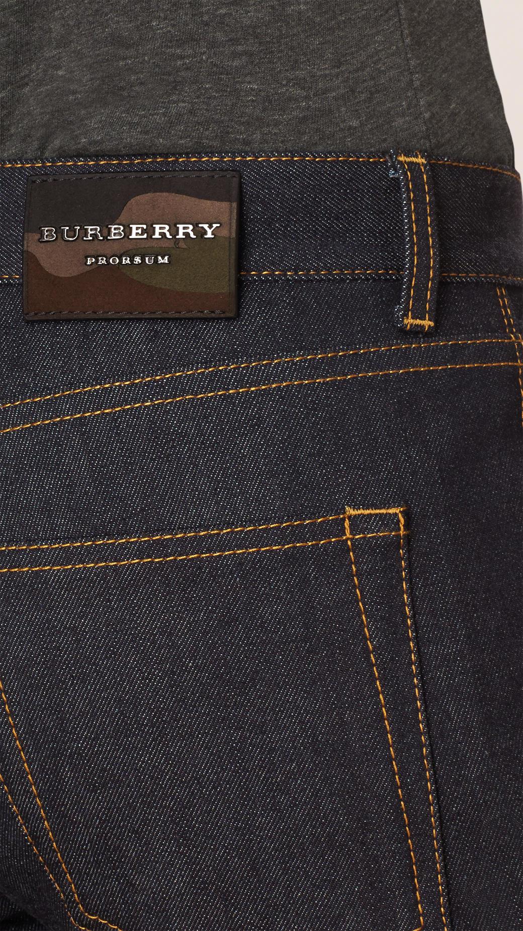 Burberry Slim Fit Japanese Selvedge Jeans in Indigo (Blue) for Men