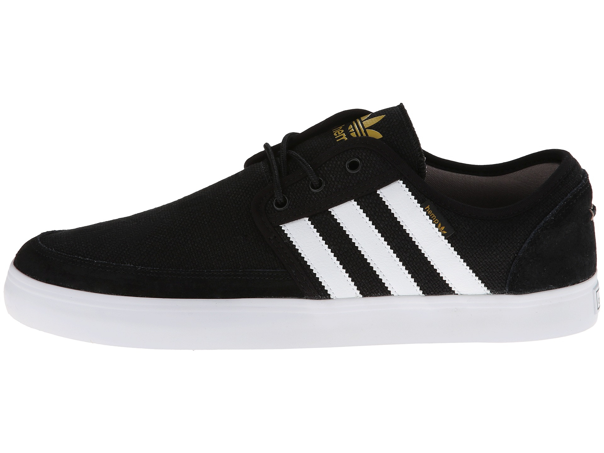 adidas Seeley Boat in Black for Men - Lyst