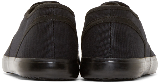 Christian Peau Black Canvas Low_top Sneakers for Men