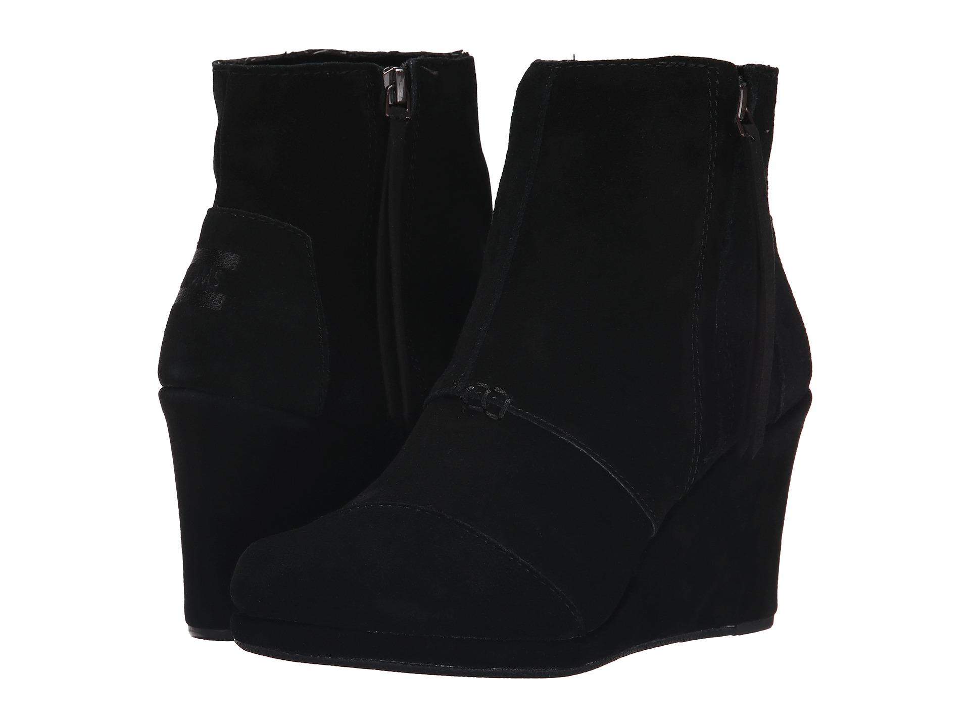 Toms Black Desert Wedge High Shoes