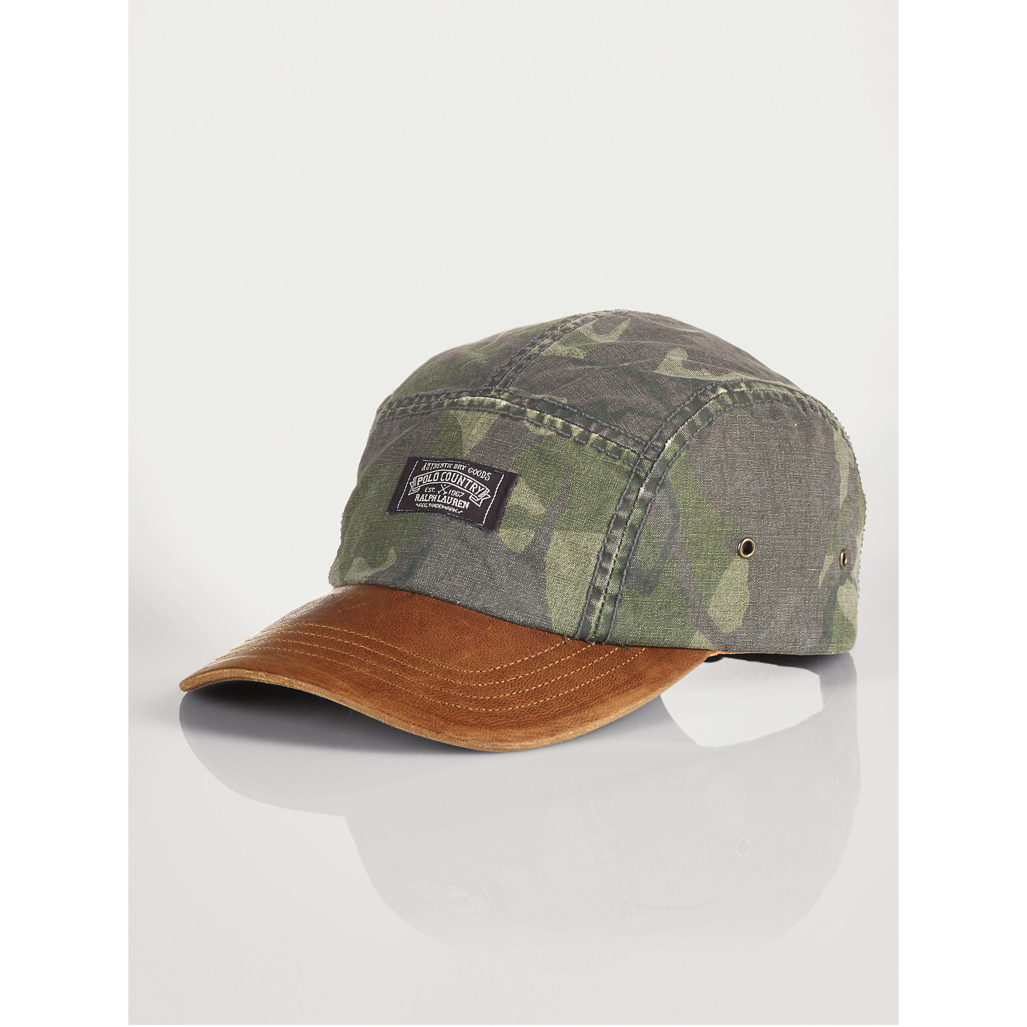 Lyst - Polo Ralph Lauren Oilcloth And Leather Cap in Green for Men db5229f22c0e