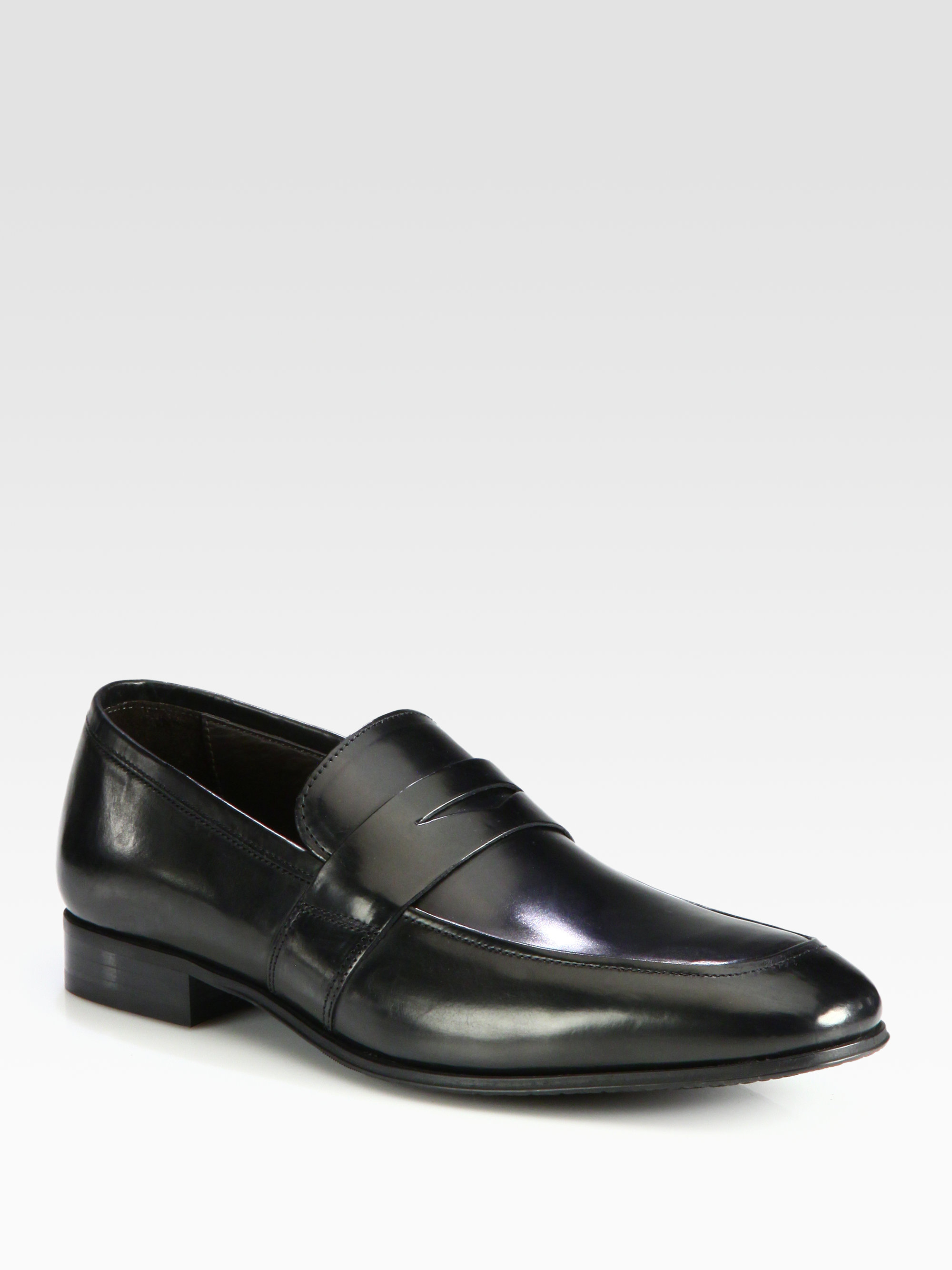 To Boot Senato Penny Loafers In Black For Men Lyst