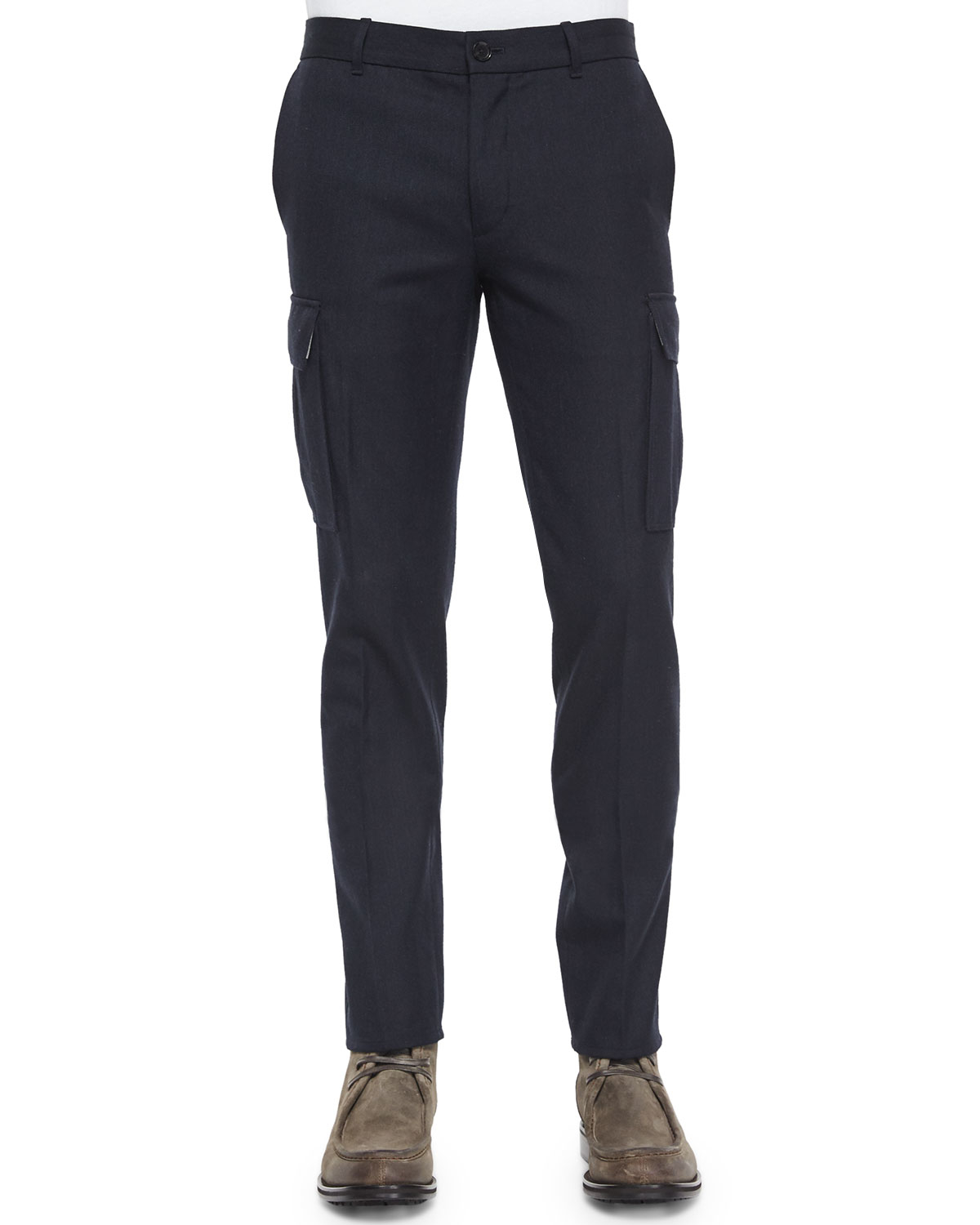 Vince Military-style Cargo Dress Pants in Black for Men | Lyst