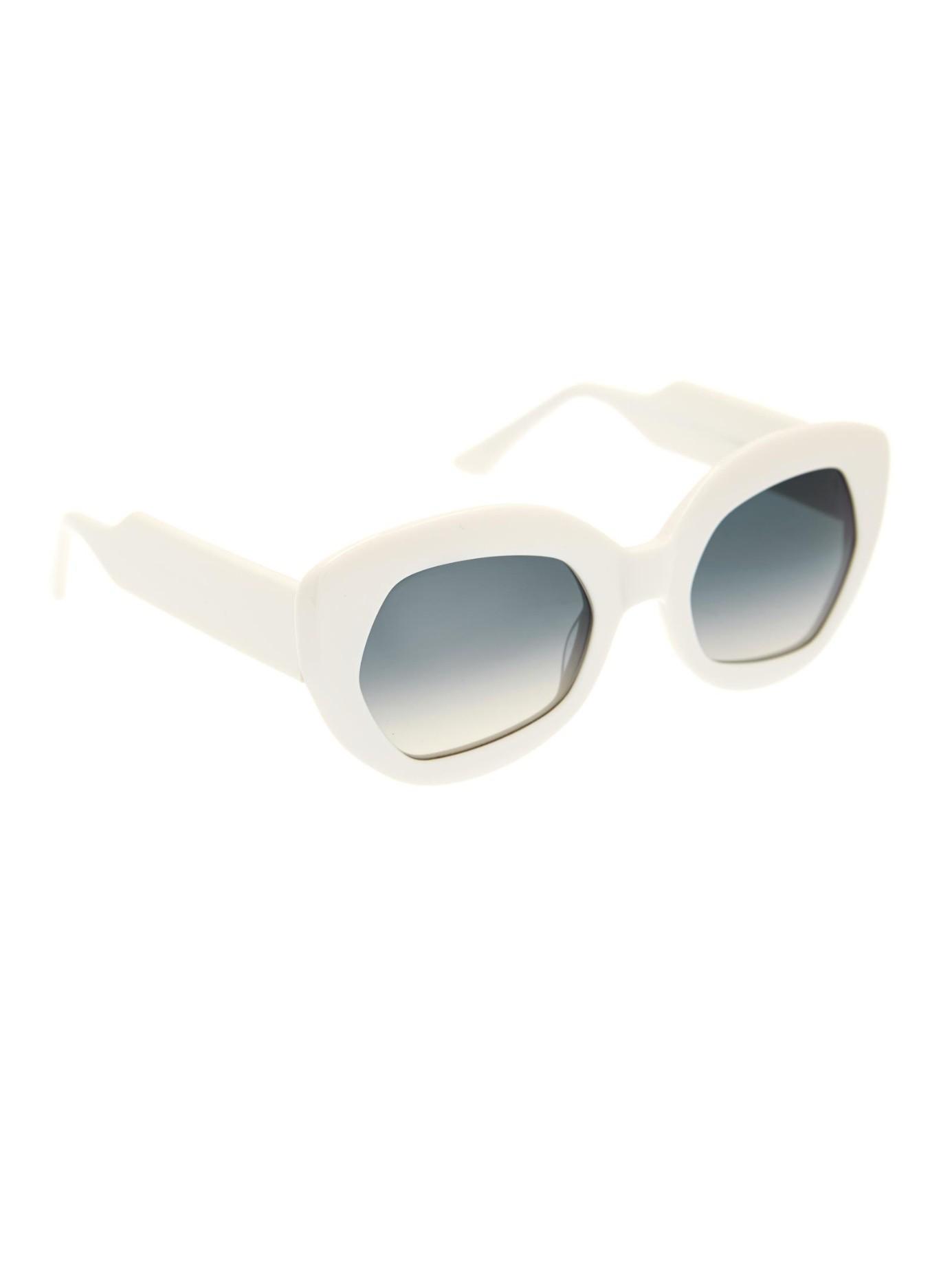Marni Geometric-Frame Sunglasses in White