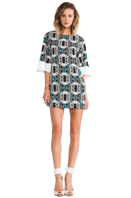 Lyst Shona Joy Bell Sleeve Mini Shift Dress