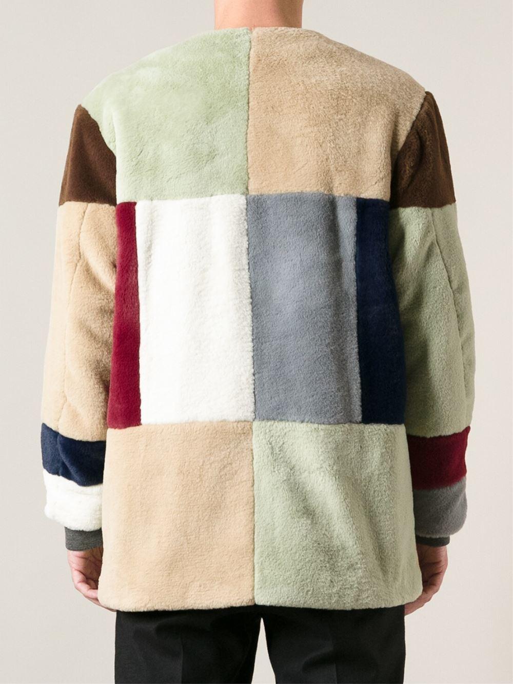 Gosha Rubchinskiy Patchwork Coat For Men Lyst