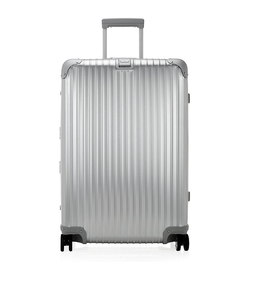 rimowa topas titanium multiwheel suitcase 70cm in gray for men lyst. Black Bedroom Furniture Sets. Home Design Ideas
